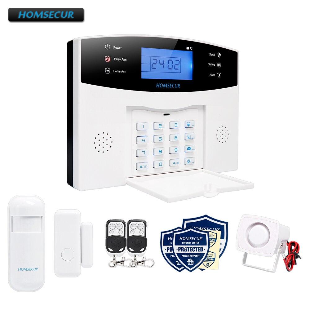 HOMSECUR LA01 Kablosuz ve kablolu LCD 433 Mhz GSM 850/900/1800/1900 Ev Alarm Sistemi ile ses Istemi EN/ES/FR/RU/PLHOMSECUR LA01 Kablosuz ve kablolu LCD 433 Mhz GSM 850/900/1800/1900 Ev Alarm Sistemi ile ses Istemi EN/ES/FR/RU/PL