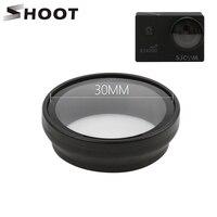 SHOOT-filtro UV para cámara de acción, accesorios para SJCAM SJ4000 SJ4000 plus Series Wifi h9 h9r C30, objetivo de cámara de acción para SJCAM SJ4000