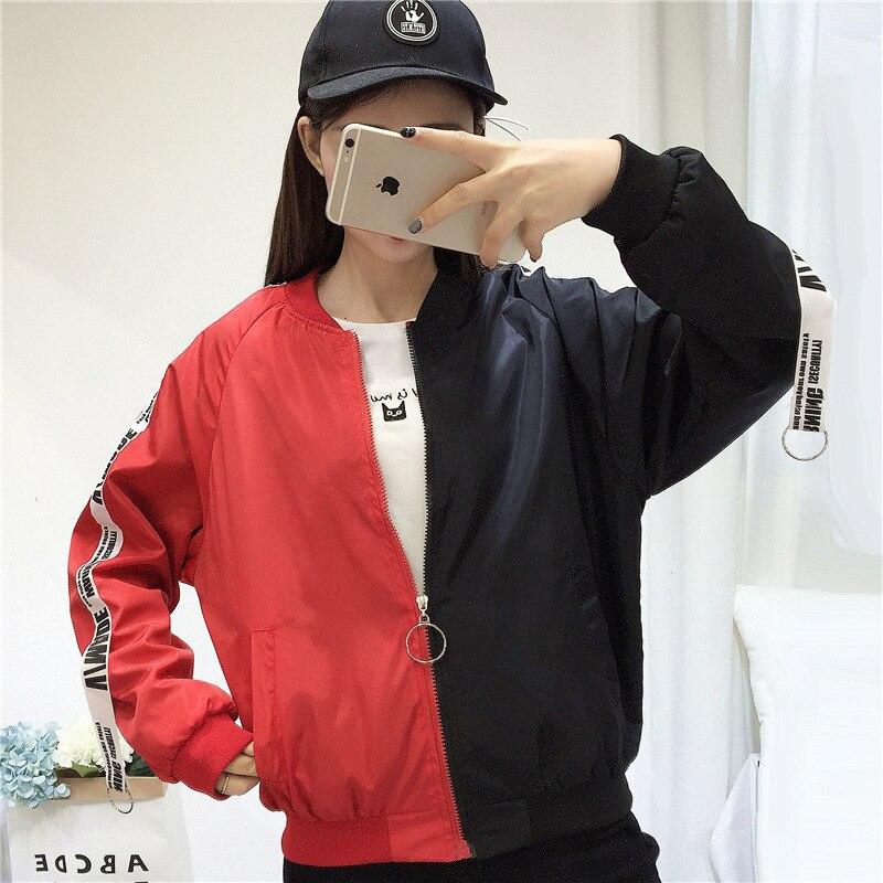 Female Baseball Women Coat New Women's   Basic     Jacket   Windbreaker High Quality Outwear Female Baseball Women Coat