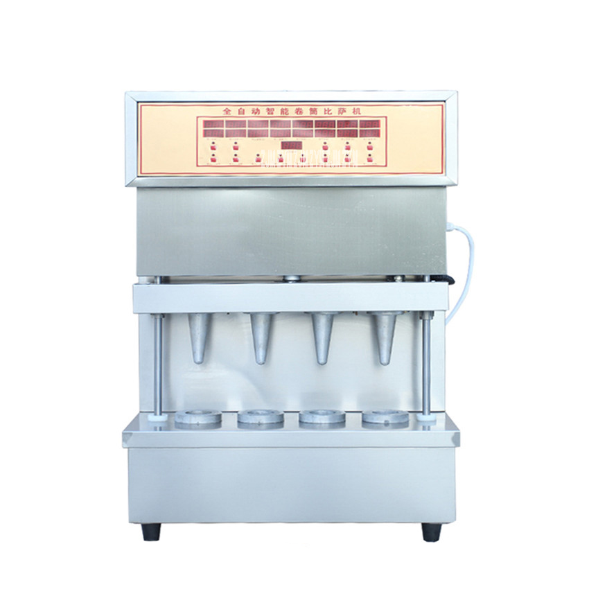 Commercial Four heads Sweet pizza machine holding pizza 2500W Power /umbrella cone pizza / 110V/220V stainless steel Material factory price pizza cone oven pizza cone machine pizza vending machines for sale
