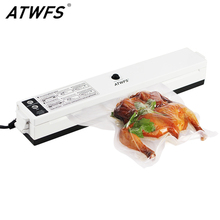 ATWFS 식품 진공 실러 보관 포장 씰링 기계 주방 진공 컨테이너 포장기 식품 보호기 15pcs Vacum Bag