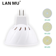 LAN MU MR16 LED Spotlight Bulbs 4W 6W 8W AC 220V 110V SMD 2835 GU5.3 Lampada LED Bulb 48 60 80Led Energy Saving Home Lighitng