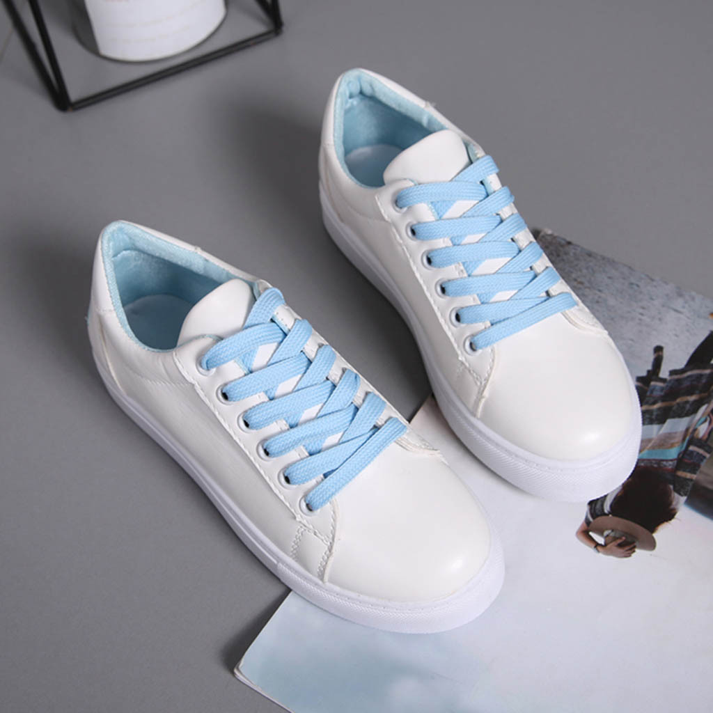Plates pink Doux Blue Respirable Hot Confortable Sneakers 2019 En Femmes Marche New Air Chaussures white 10 Pu Plein Course Chaussure De Sport pnRSqw