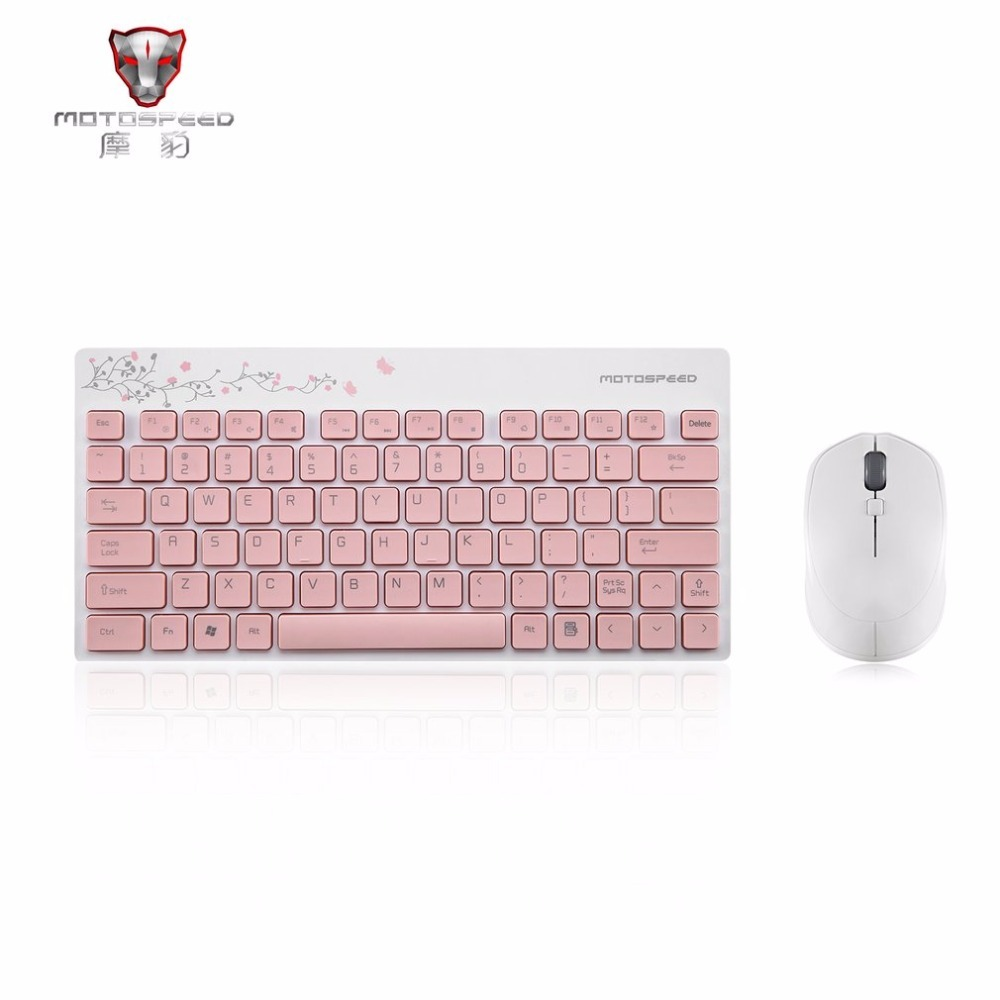 Motospeed Fashion 2.4GHZ Wireless Keyboard Mouse Set Lightweight 1600DPI Keyboard Mouse Set For PC Laptop Computer Free Shipping
