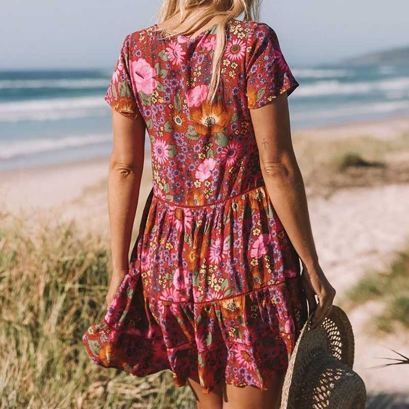 Bohemian Summer Style Dress For Womens