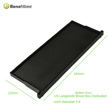 Benefitbee 10pcs Beekeeping Brood Box Bottom Hive Langstroth 483*232mm Equipment Plastic Frame With Comb Foundation