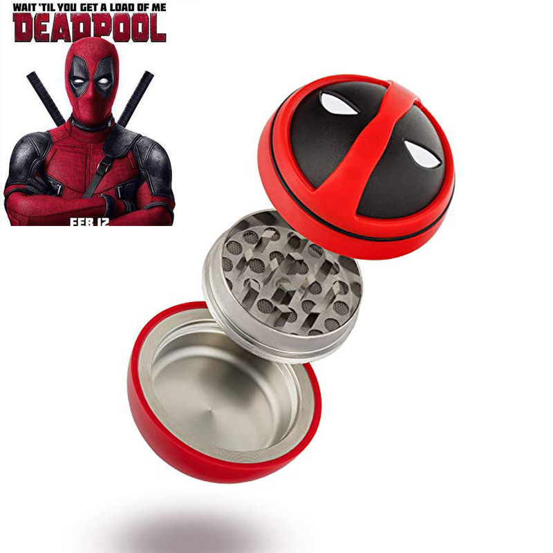 Deadpool 2 Cosplay Props Tobacco 3 Layers Weed Herb Grinder Smoking Pipe Cigarette Accessories