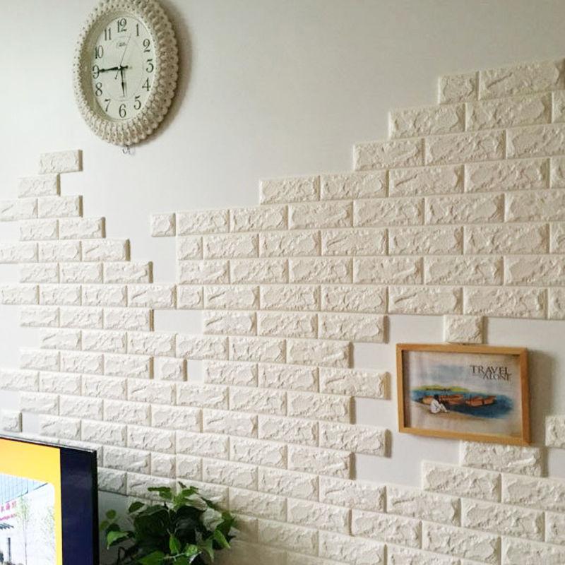 3d elasticity brick grain foam stone brick self adhesive wallpaper