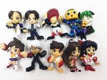 3 5CM 10pcs lot Japanese anime figure THE KING OF FIGHTERS Q version action figure set