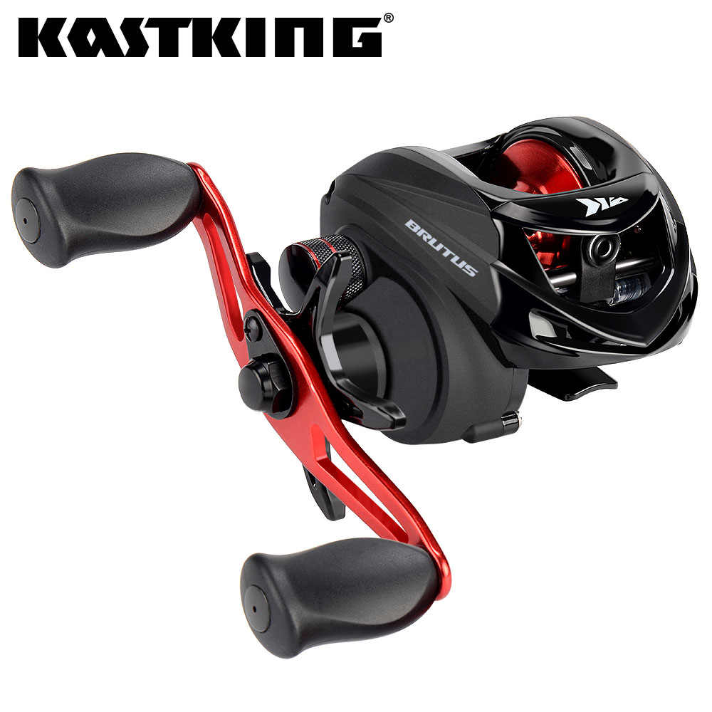 KastKing Brutus Baitcasting Fishing Reel 6.3:1 Gear Ratio Brass Main Gear Shaft Graphite Frame Aluminum Handle Fishing Coil