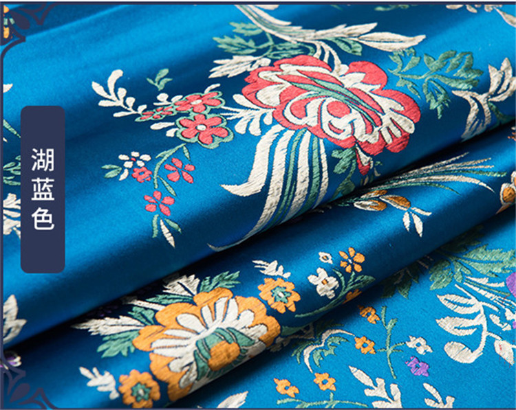 FLORAL BROCADE Gloss Design Print CUB Size 8.25x4.75x10.25 Bag With Choice of Tissue Paper Color and Package amount