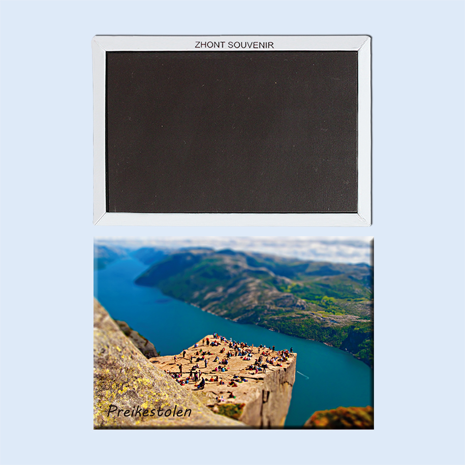 Preikestolen Noway 22527 Souvenirs of Tourist Landscape Magnetic refrigerator gifts for friends in Fridge Magnets from Home Garden