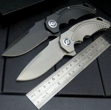 High quality CSS-333 bearing folding knife D2 blade + all steel handle full CNC machining carved folding Fixable camping knives