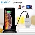Магнитное зарядное устройство RAXFLY 3 в 1 для Apple iPhone  настольное зарядное устройство USB C для Micro USB Type C  подставка для быстрой зарядки телефона
