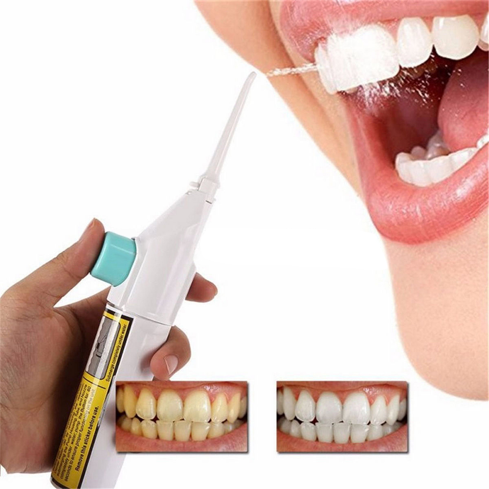 Oral Irrigator Dental Water Jet Floss Pick Teeth Cleaning Flusher Air Powered Dental Cleaning Whitening Cleaner Kit electric oral teeth dental water flosser floss irrigator jet cleaning mouth cavity oral irrigador accessories water jet