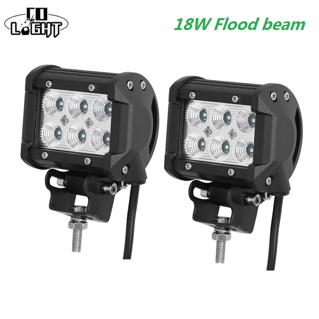 CO LIGHT 12 Volt Led Day Light 18W 4inch 4'' Spot Flood...