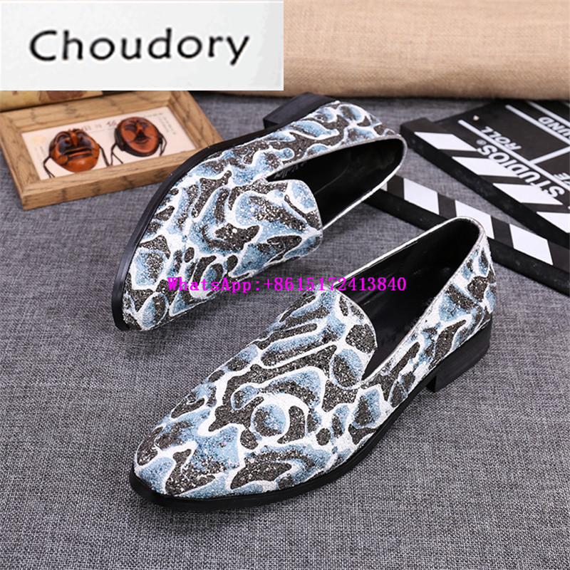 Choudory New Breathable Slip-On Paisly Men Casual Shoes Spring Autumn Bling Light Comfortable Colours New Designer Fashion Shoes