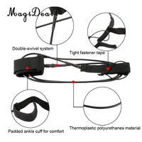 MagiDeal 10ft Heavy Duty TPU עמיד רצועת גלשן Sup גלישה Stand Up משוט סירת משוטים רצועת הלוח לגלוש ספורט מים גישה