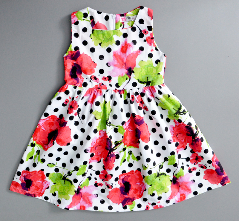 summer girl dress dot large flower dress new designer flower girl dresses fashion baby girl clothing baby girl dress designs