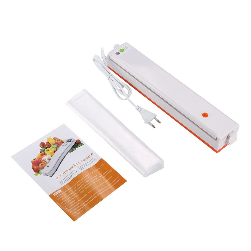 цена на Vacuum Sealer Vacuum Packing Machine 220V Household Sous Vide Food Sealer With 10Pcs Sealing Machine Packages Free Shipping