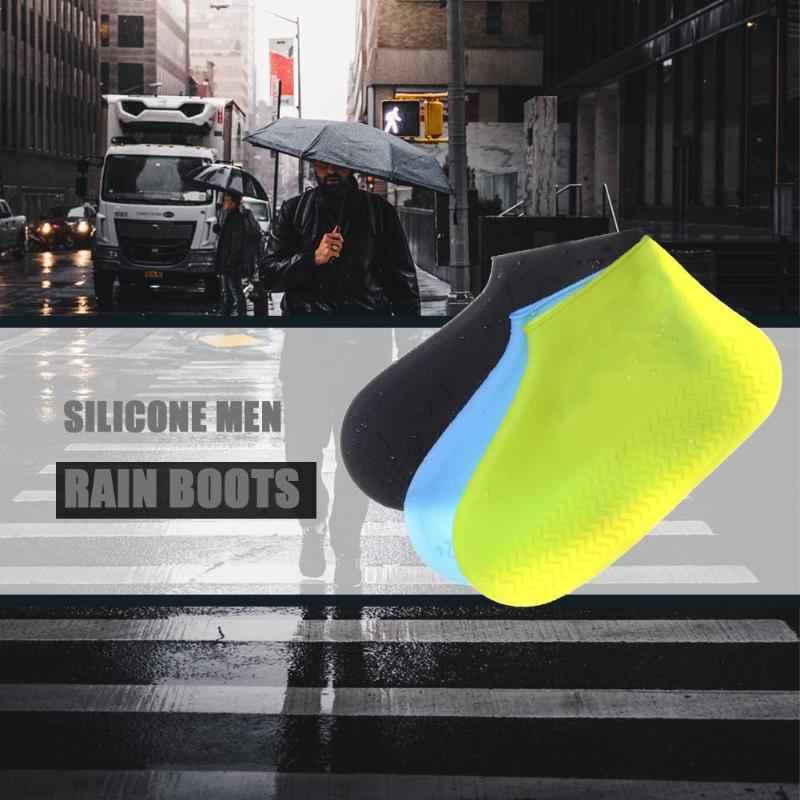 Siliconen Overschoenen Herbruikbare Waterdicht Regendicht Mannen Schoenen Covers Regen Laarzen antislip Wasbaar Unisex Slijtvaste Recyclebaar