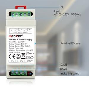 Image 3 - Miboxer DL POW1 DC16V DIN Rail DALI Bus Power Supply 4W Max250mA led transformer for AC 110V 220V DALI RGB CCT led downlight
