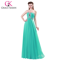 The Most Beautiful Free Shipping 1pc Lot GK Strapless Chiffon Long Prom Bridesmaid Dress With Beading