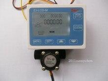 Эффект холла G1 / 2 » расход воды датчик метр + цифровое управление жк-дисплей