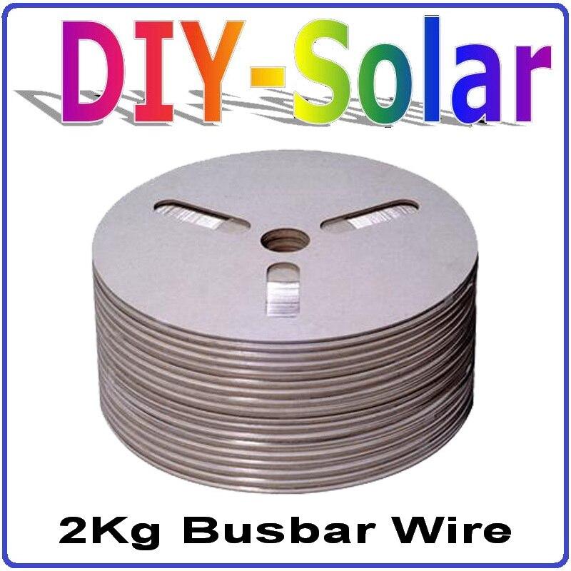 Fil de barre omnibus de panneau de cellules solaires de 0.2*5.0mm/ruban de PV, 788 pieds cellules solaires soudant le fil d'onglet 120 m poids Net 2Kg