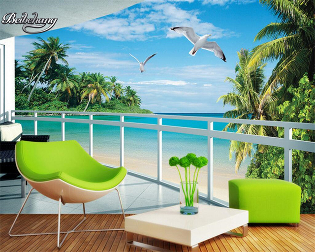 aliexpresscom beibehang tapete 3d wallpaper landschaft With balkon teppich mit background tapete