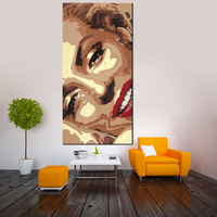 Hotselling Marilyn Monroe Beautiful Lady Figure Oil Painting Canvas Wall Art For Room Decor Handmade Not