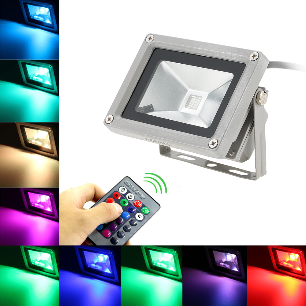 Projecteur Led Rgb Exterieur Us 13 29 36 Off 10w Rgb Led Flood Light 1pcs Ultrathin Projecteur Led Exterieur Led Reflector In Floodlights From Lights Lighting On