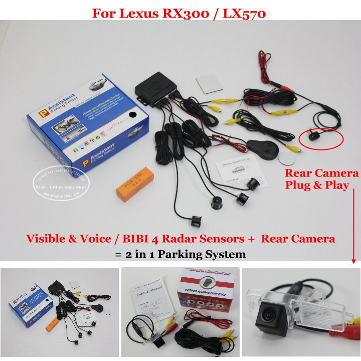 Car Parking Sensors + Rear View Camera = 2 in 1 Visual / BIBI Alarm Parking System For Lexus RX300 2003~2006 2017 lady gift enmex abstract patterns elegant temperam with simple unique design for young women fashion quartz watches