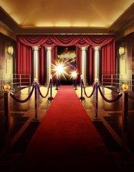 Vip czerwony dywan wnętrze etapie kolumna zasłony światła tła wysokiej jakości wydruku komputerowego strona tła