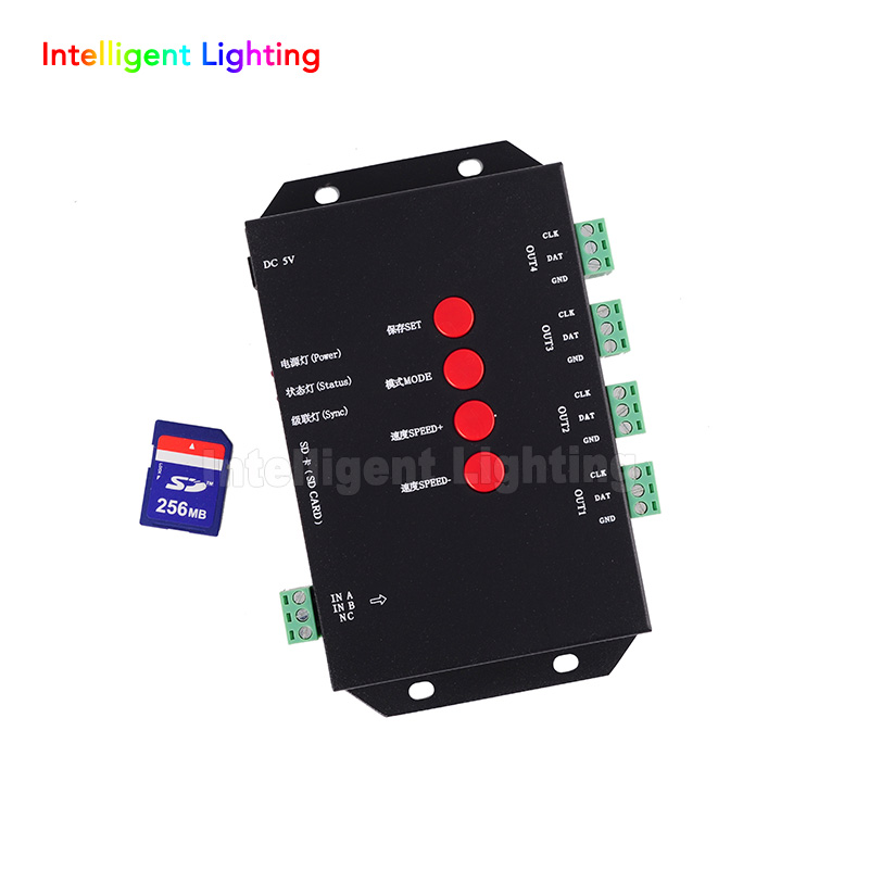 T-4000S RGB Controller SD card led pixel controller T-4000S, can max control 4096 pixels for WS2811 WS2801 WS2803 LP6803 dc5v t4000s rgb controller sd card led pixel controller t 4000s can max control 4096 pixels for ws2811 ws2801 ws2803 lp6803