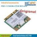 P901-1 HCiPC 3160 cartão Wi-fi, Dual Band Sem Fio AC-3160, Mini PCI-e Sem Fio Wi-fi bluetooth 3160HMW 802.11ac + Bluetooth