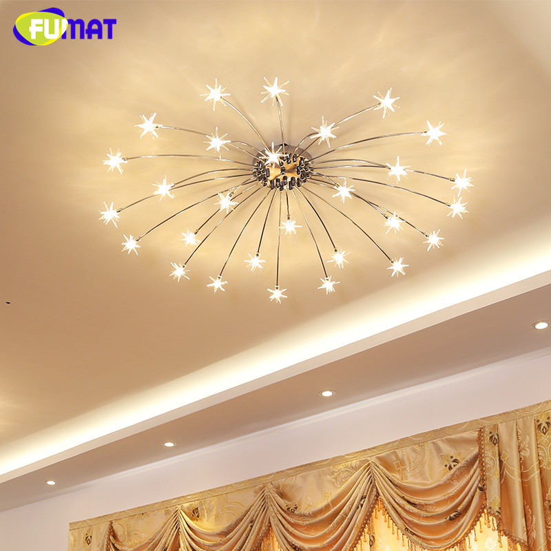 Fumat modern round g4 led crystal glass stars ceiling lights led stars ceiling light 7 mozeypictures Image collections
