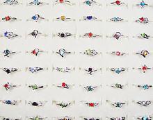 Модные женские кольца Стразы с серебряным покрытием 500 шт цельная
