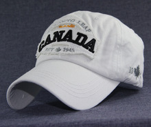 Cotton Canadian Bold Letters Baseball Cap