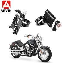 ARVIN Motorcycle Bicycle Phone Holder For iPhone Samsung S8 Adjustable Mobile Bike Handlebar Clip Stand GPS Mount Bracket