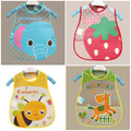 Baby Bibs PEVA Waterproof Lunch Bibs Boys Girls Infants Cartoon Pattern Bibs Burp Cloths For Children Self Feeding Care
