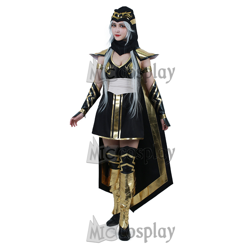 The Frost Archer Ashe Cosplay Costume Women's Cape