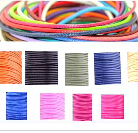Bxd0001wire 1MM 10 meters/piece  diameter Waxed Thread Cotton Cord String Strap Rope Bead Fit shamballa Bracelet