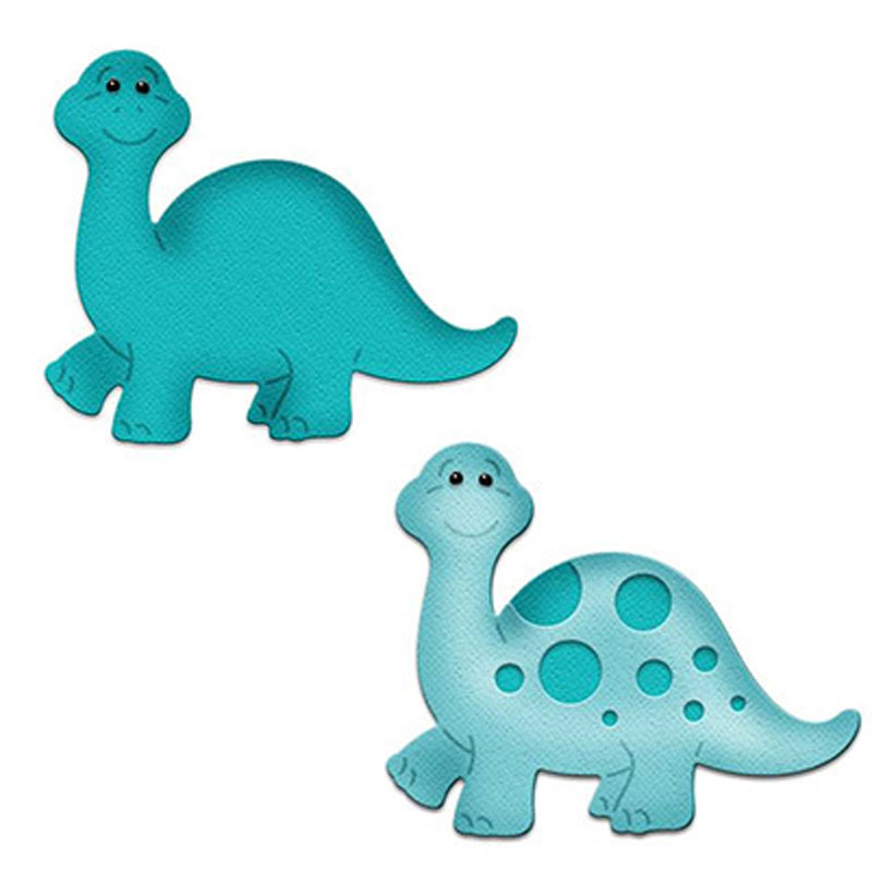 Special Section Baby Dinosaur Metal Cutting Dies Scrapbooking Brontosaurus Craft Die Cuts Card Make Create Emboss Stencil 56*50mm To Ensure A Like-New Appearance Indefinably Electronic Components & Supplies