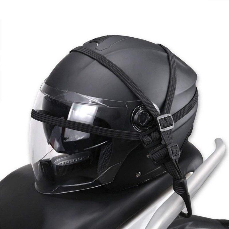 1 Pc Moto Flessibile A Scomparsa Casco Deposito Corda Elastica Della Cinghia Con 2 Ganci Accessori Moto