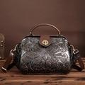 Новая кожаная сумка сумка кожаная сумка Ручной Работы С Тиснением цвет кисти простой мешок