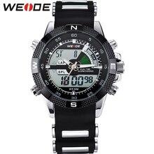 Hot! WEIDE Watches Men Luxury Brand Famous Logo Military LCD Luminous Analog Digital Date Week Alarm Display Relogio Masculino