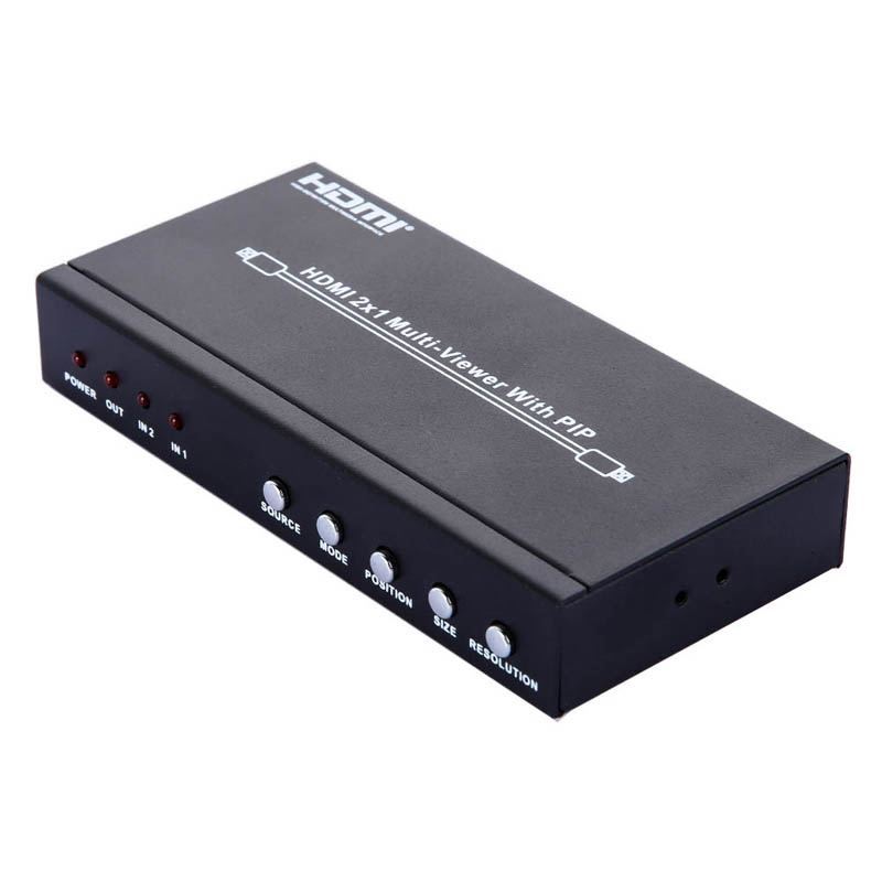 HDMI 2X1 Multi Viewer Splitter With PIP Function 1080P Picture A/V Division HDMI1.3a & HDCP1.2 Version Audio Video Adapter