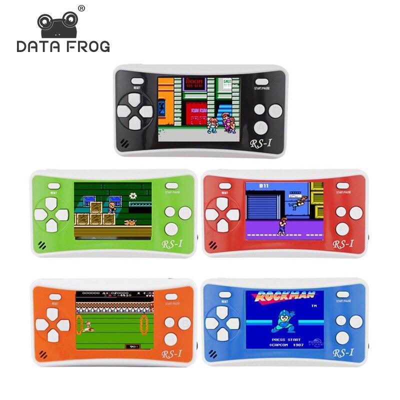 Dati Rana Portatile Console di Gioco 2.5 pollice Palmare Console di gioco Giocatore del Gioco Costruito In 89 Nessuna Ripetizione Classic Best Regalo per I Bambini