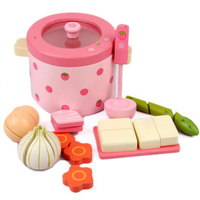 어머니 정원 아이 극장 장난감 나무 장난감 인공 증기 밥솥 장난감 선물 세트